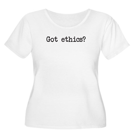 Got ethics? Women's Plus Size Scoop Neck T-Shirt