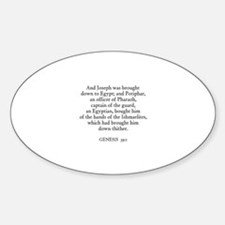 GENESIS 39:1 Oval Decal