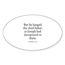 GENESIS 40:22 Oval Decal