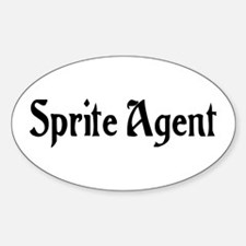 Sprite Agent Oval Decal