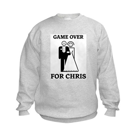 Game over for Chris Kids Sweatshirt