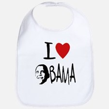Cute I heart obama Bib