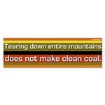 Mountaintop Removal Is Not Clean Coal Sticker