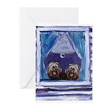 TIBETAN TERRIER window Greeting Cards (Package of