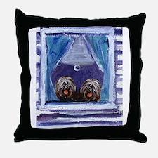 TIBETAN TERRIER window Throw Pillow