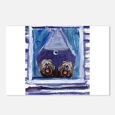 TIBETAN TERRIER window Postcards (Package of 8)