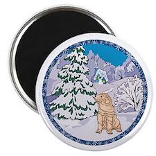 Winter Wonderland Shar-Pei Magnet