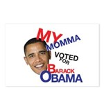 MY MOMMA VOTED FOR OBAMA Postcards (Package of 8)