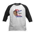 MY MOMMA VOTED FOR OBAMA Kids Baseball Jersey