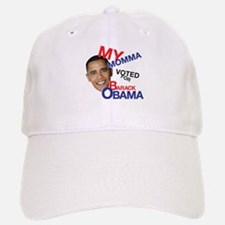 MY MOMMA VOTED FOR OBAMA Baseball Baseball Cap
