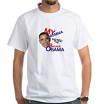 MY MOMMA VOTED FOR OBAMA White T-Shirt