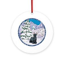 Winter Wonderland Scottie Ornament (Round)