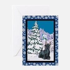 Winter Wonderland Scottie Greeting Card