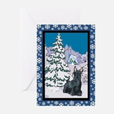 Winter Wonderland Scottie Greeting Cards (Pk of 20