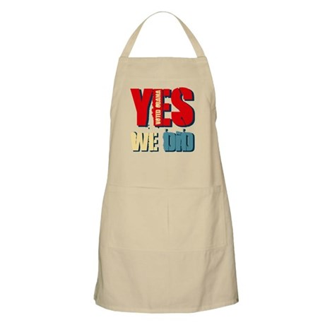 Yes We Did Voted Obama BBQ Apron