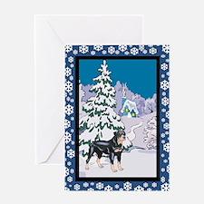 Winter Wonderland Rottweiler Greeting Card