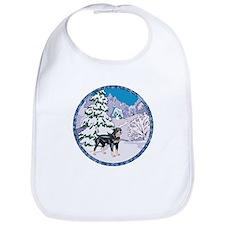 Winter Wonderland Rottweiler Bib
