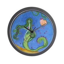 Hand Painted Mermaid Wall Clock