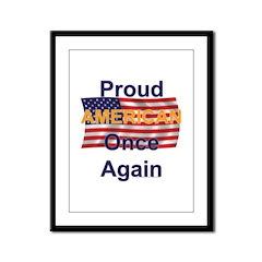 American Pride Framed Panel Print
