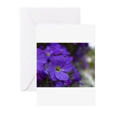 PURPLEFLOWERS Greeting Cards (Pk of 20)