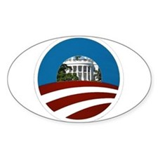 Obama = White House Oval Decal
