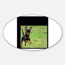 CUTE PUPPY Oval Decal