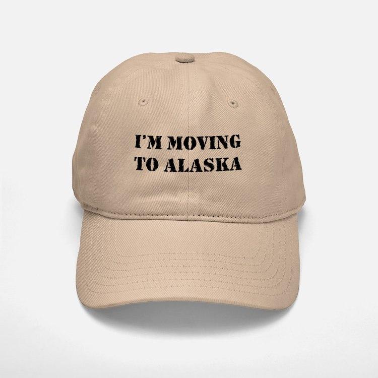 Moving to Alaska Baseball Baseball Cap