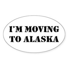 Moving to Alaska Oval Decal