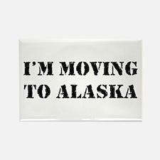Moving to Alaska Rectangle Magnet (100 pack)
