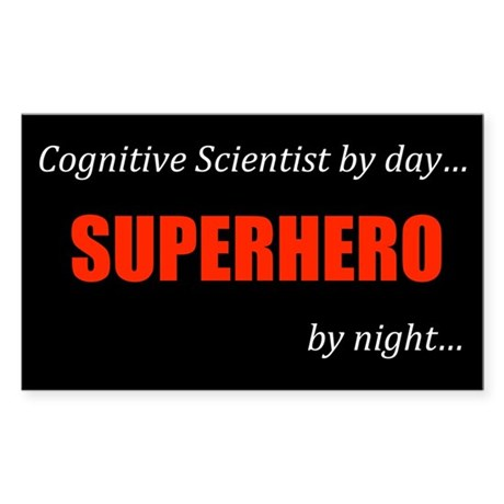 Cognitive Science Gift Rectangle Sticker 10 pk)