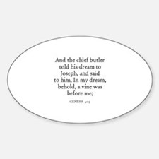 GENESIS 40:9 Oval Decal