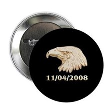 """Election 2008, Crying Eagle 2.25"""" Button"""