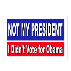 Anti Obama Not My President Postcards (Package of