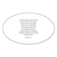 GENESIS 40:5 Oval Decal