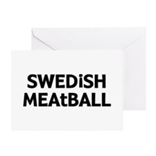 Swedish Meatball Greeting Card