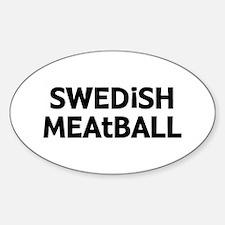 Swedish Meatball Sticker (Oval)