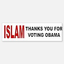 Islam thanks you Bumper Bumper Bumper Sticker
