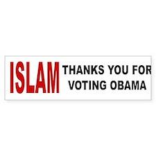 Islam thanks you Bumper Car Car Sticker