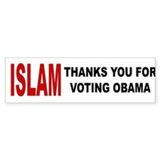 Islam thanks you Bumper Car Sticker