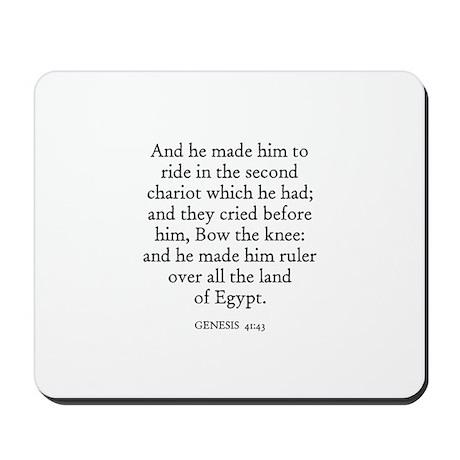 GENESIS 41:43 Mousepad