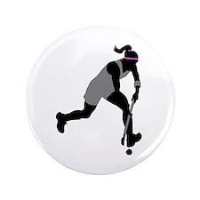 "Field Hockey Girl 3.5"" Button"
