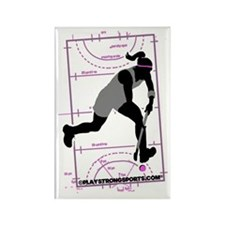 Field Hockey Girl Rectangle Magnet