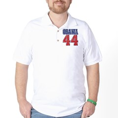Obama 44th President (vintage Golf Shirt