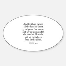 GENESIS 41:35 Oval Decal