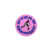 Field Hockey Girl Mini Button