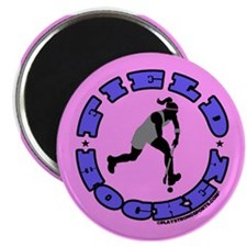 Field Hockey Girl Magnet