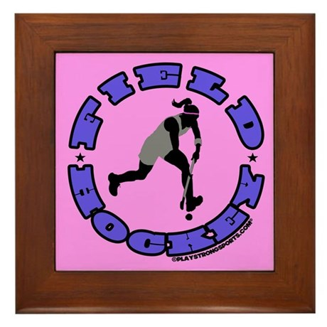 Field Hockey Girl Framed Tile