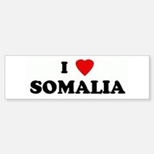 I Love SOMALIA Bumper Car Car Sticker