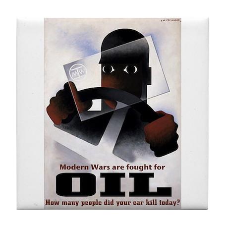 Oil = Death Tile Coaster
