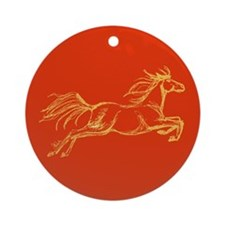 Equestrian Art Ornament (Round)